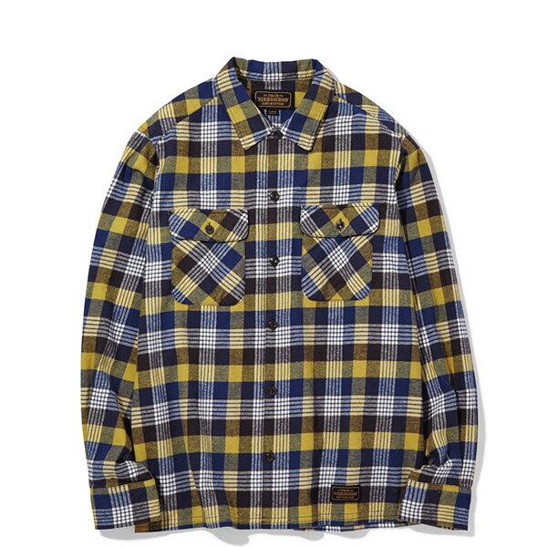 【ESTO】NeighborhoodLOGGERC-SHIRT.LS格紋長袖襯衫黃藍H1016