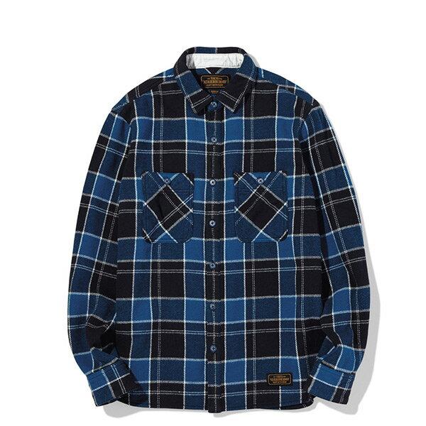 【ESTO】NeighborhoodLUMBERSC-SHIRT.LS格子長袖襯衫藍格紋H1016
