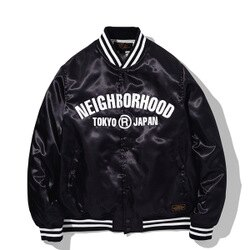 【EST O】Neighborhood B.B. / E-JKT NBHD 棒球外套 黑 H1016