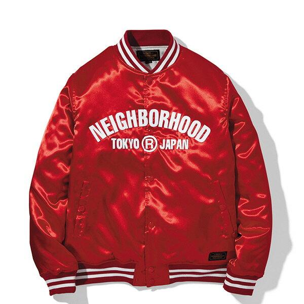 【ESTO】NeighborhoodB.B.E-JKTNBHD棒球外套紅H1016