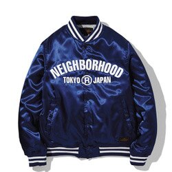 【EST O】Neighborhood B.B. / E-JKT NBHD 棒球外套 藍 H1016
