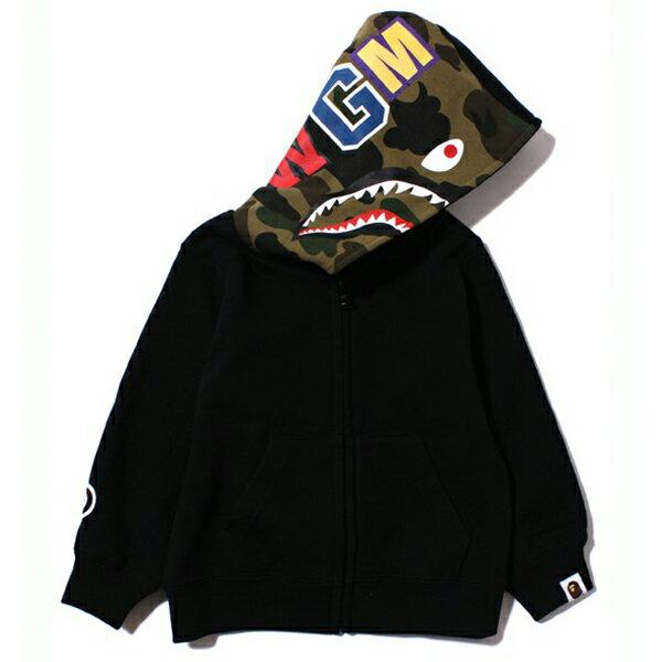 【EST O】A Bathing Ape Shark Zip Hoodie 兒童連帽外套 黑 G0908