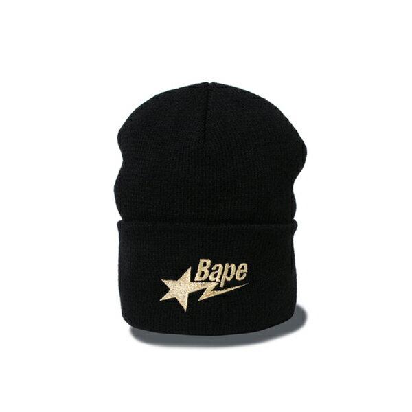 【EST O】A Bathing Ape Bape Sta Knit Cap 毛帽 黑 G1004