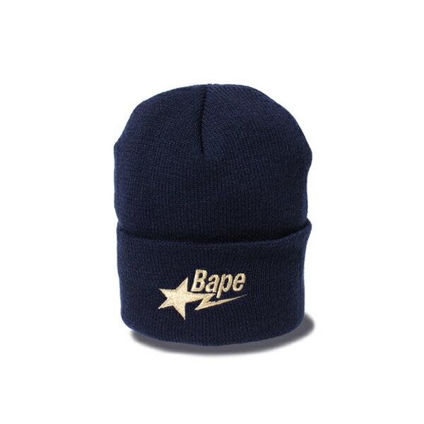 【EST O】A Bathing Ape Bape Sta Knit Cap 毛帽 藍 G1004 - 限時優惠好康折扣