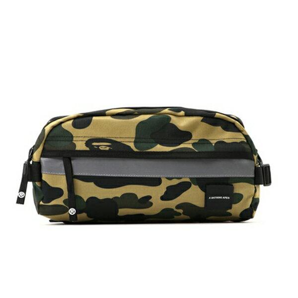 【EST O】A Bathing Ape 1St Camo Reflective Waist Bag M (Cordura) 腰包 卡其 G0908 - 限時優惠好康折扣