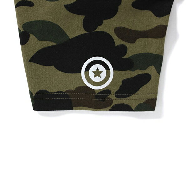【EST O】A Bathing Ape 1St Camo Big Shark 鯊魚短tee 綠 Ladies G0908 2