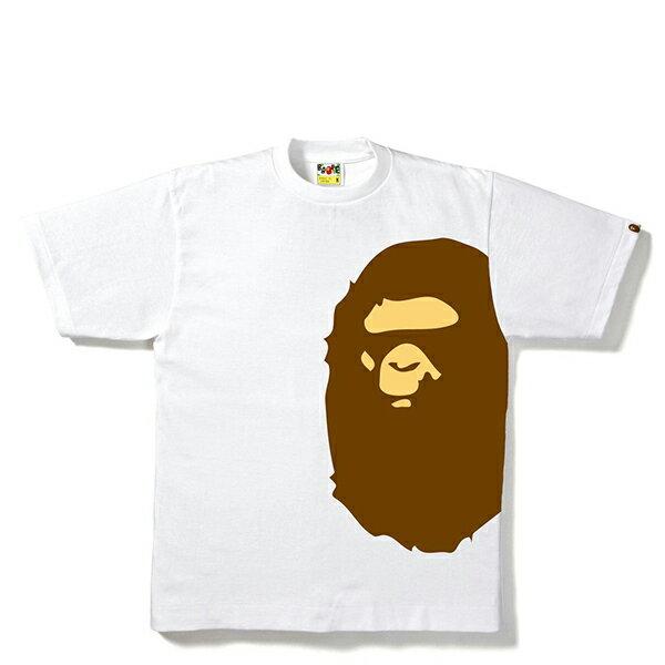 【EST O】A Bathing Ape Pigment Side Big Ape Head Tee白 G0908