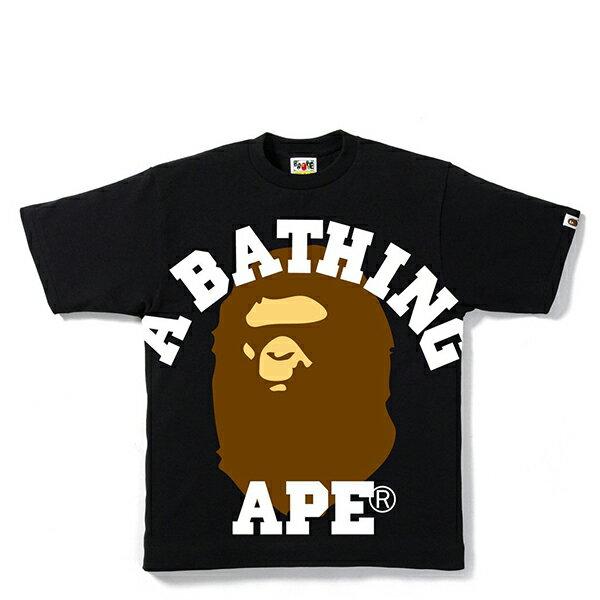 【EST O】A Bathing Ape Face Over College Tee 黑 G0908 - 限時優惠好康折扣