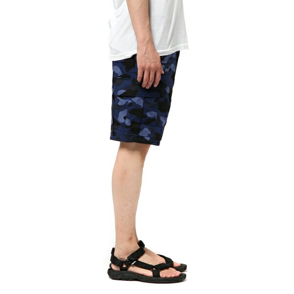 【EST O】A Bathing Ape Color Camo 6Pocket Shorts 短褲 藍迷彩 G0908 5