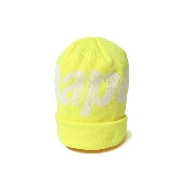 【EST O】A Bathing Ape Bape Knit Cap 毛帽 黃 G1004 0