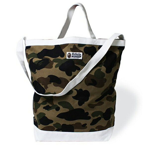 【EST O】A Bathing Ape 1St Camo Shoulder Tote Bag 手提側背包 綠 G0908 1