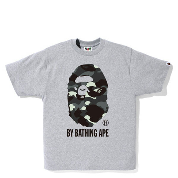 【EST O】Bape City Camo By Bathing Tee 夜光 猿人頭 迷彩 短Tee 灰 H0627
