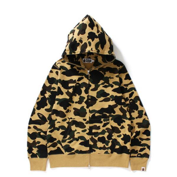 【EST O】Bape 1ST Camo Full Zip Hoodie 帽夾 外套 黃迷彩 H1124