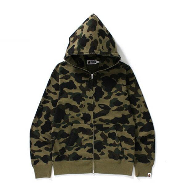 【EST O】Bape 1ST Camo Full Zip Hoodie 帽夾 外套 綠迷彩 H1124