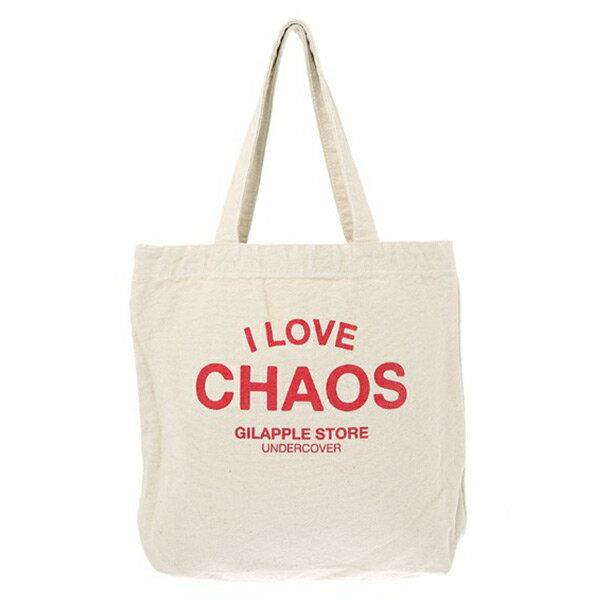 【EST O】Undercover GSS6B02 經典 I LOVE CHAOS 托特包 購物袋 白色 H0802