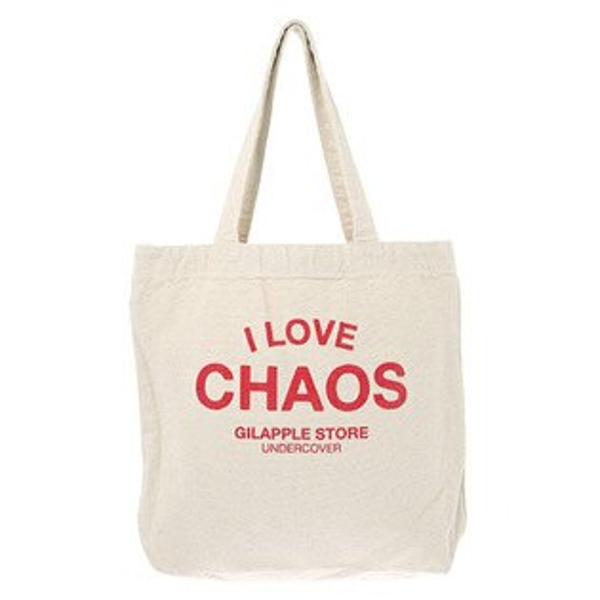 【ESTO】UndercoverGSS6B02經典ILOVECHAOS托特包購物袋白色H0802