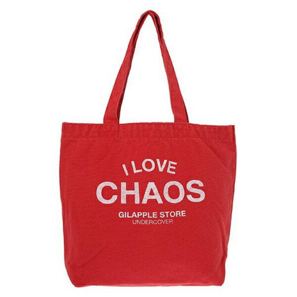 【EST O】Undercover GSS6B02 經典 I LOVE CHAOS 托特包 購物袋 紅色 H0802