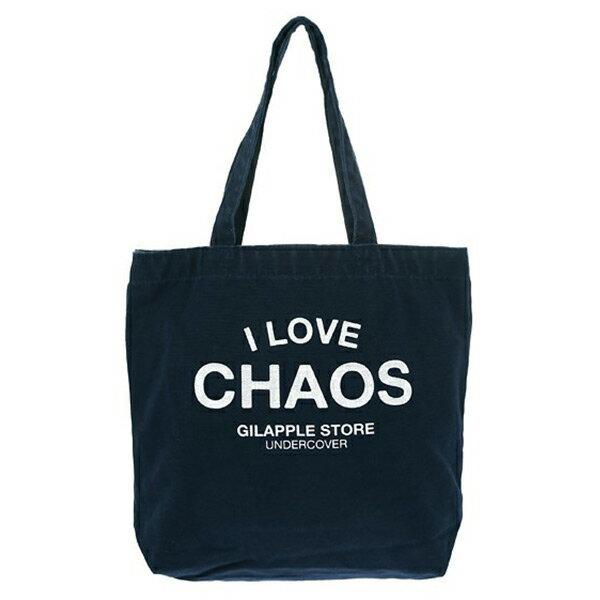 【EST O】Undercover GSS6B02 經典 I LOVE CHAOS 托特包 購物袋 深藍 H0802