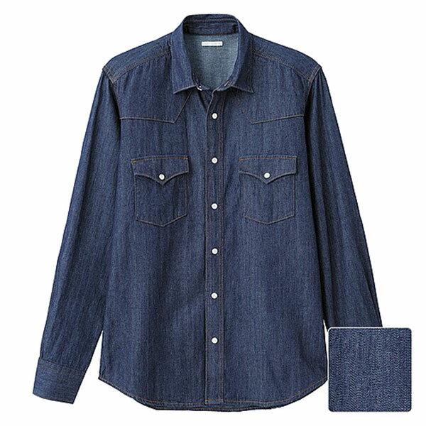 【EST O】Uniqlo × G.U. [267560] 長袖 單寧 牛仔襯衫 深藍 G0105 - 限時優惠好康折扣