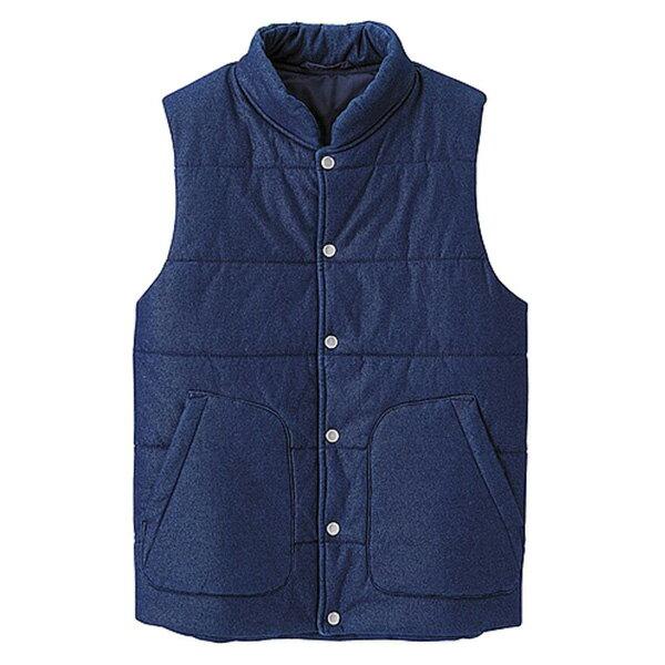 【EST O】Uniqlo × G.U. Gu [268673] 單寧 牛仔 鋪棉 背心 深藍 G0119 - 限時優惠好康折扣