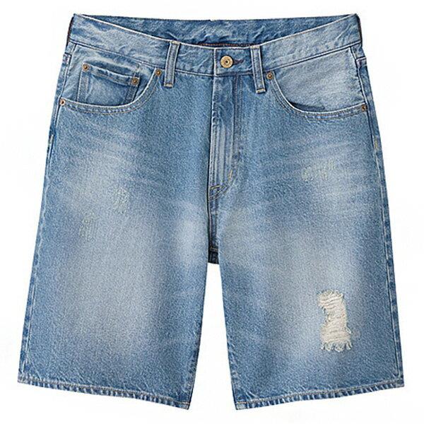 【EST O】Uniqlo × G.U. Gu 268898 單寧 牛仔 短褲 五分褲 淺藍 G0526 - 限時優惠好康折扣