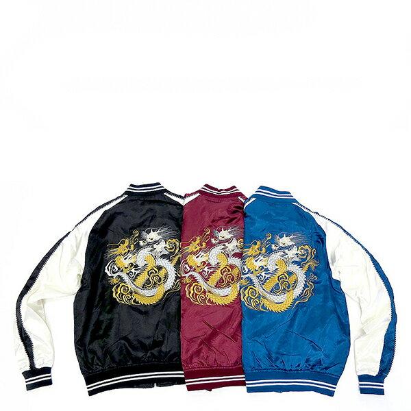 【EST O】日本限定 Marukawa Sukajan 橫須賀刺繡外套 09 酒紅 G0929 - 限時優惠好康折扣