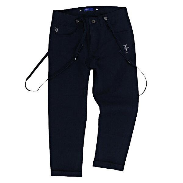 【ESTO】MadgirlUnwashedChinoPantsWithsuspenders休閒吊帶長褲深藍G0720