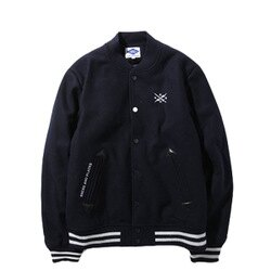 【EST O】Madness Logo Baseball Jacket 余文樂 棒球外套 深藍 H1123