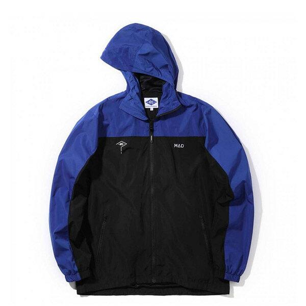 【ESTO】MadnessSportsHoodedJacket余文樂運動休閒外套黑藍H1123