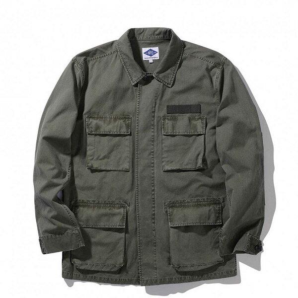 【ESTO】MadnessB.D.U.Shirt余文樂水洗襯衫外套軍綠H1123