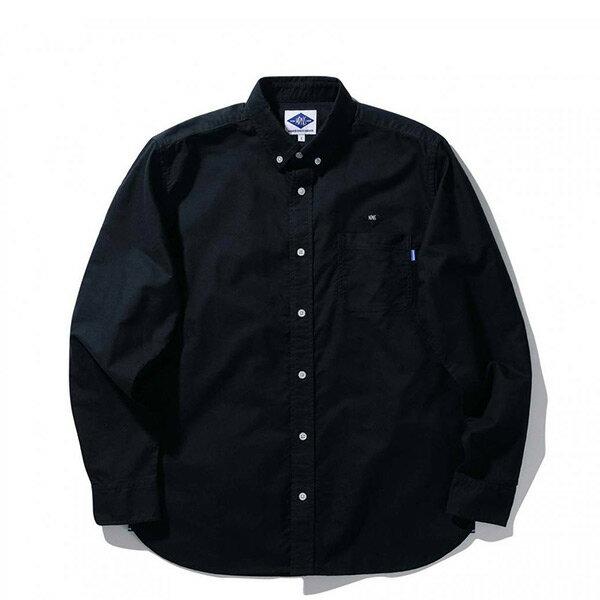 【ESTO】MadnessRayEagleOxfordShirt余文樂長袖襯衫黑H0830
