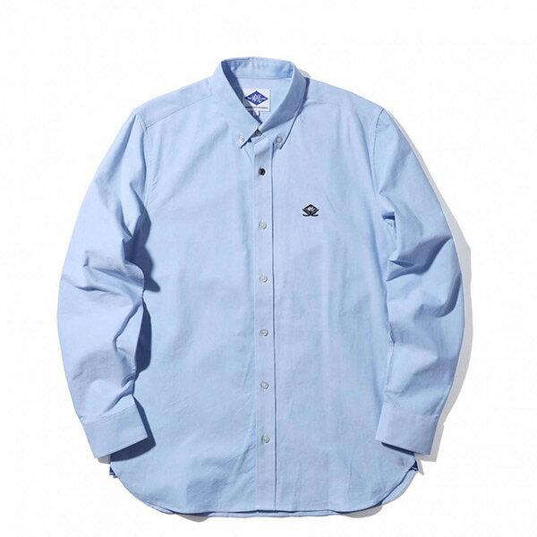 【ESTO】MadnessOxfordShirt余文樂雙刀長袖襯衫水藍H1123