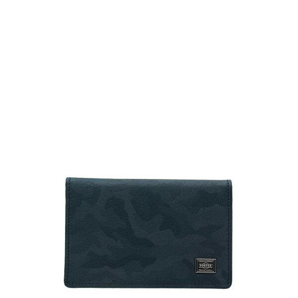 【ESTO】Porter吉田WONDERCARDCASE卡包證件包卡夾迷彩深藍H0803