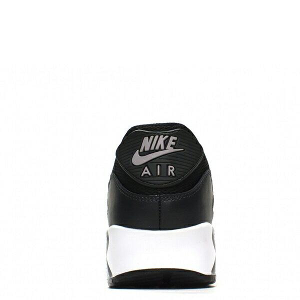【EST S】Nike Air Max 90Essential 2016 537384-056 黑灰皮革氣墊慢跑鞋 男鞋 G1012 2