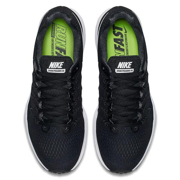 【EST S】Nike Air Zoom Pegasus 33 831356-001 飛線 慢跑鞋 女鞋 黑 G1011 2