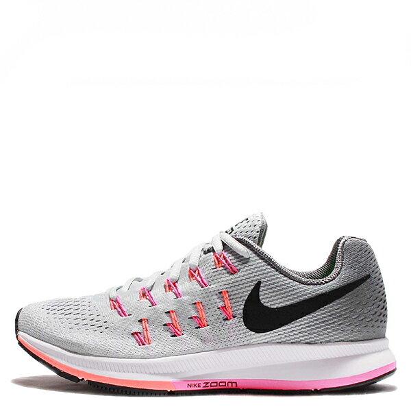 【EST S】Nike Air Zoom Pegasus 33 831356-006 飛線慢跑鞋 灰粉紅 G1111