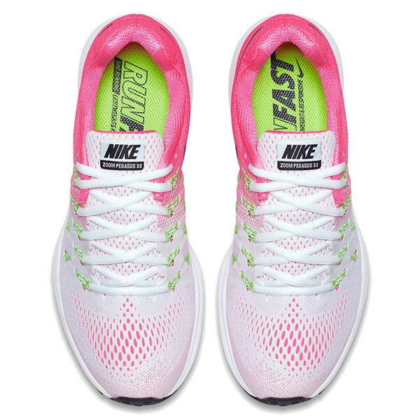 【EST S】Nike Air Zoom Pegasus 33 831356-106 飛線 慢跑鞋 女鞋 白 G1011 2