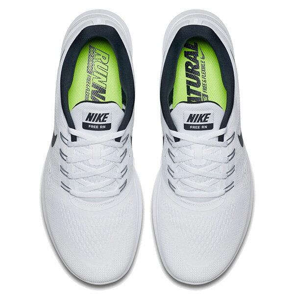 【EST S】Nike Free Rn 831508-100 反光 輕量 赤足 訓練 慢跑鞋 男鞋 白 G1011 2