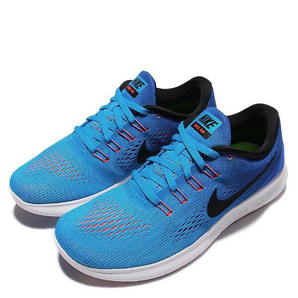 【EST S】Nike Free Rn 831509-404 反光 輕量 赤足 訓練 慢跑鞋 女鞋 藍 G1011 2