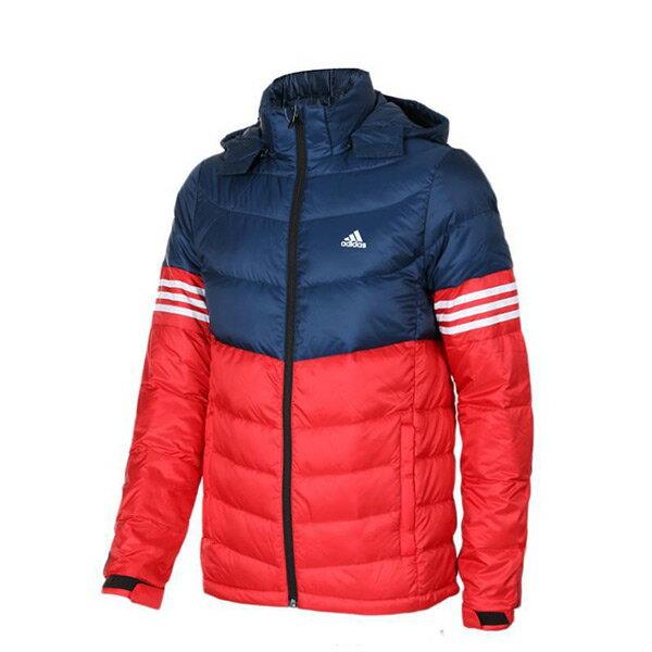 【EST S】Adidas 3S Jacket AY4105 彭于晏 羽絨外套 男款 紅藍 G1217