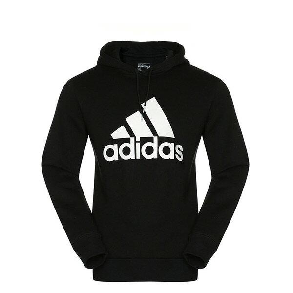 【EST S】Adidas Sports Logo Hoodie S21336 連帽 帽Tee黑白 G1124