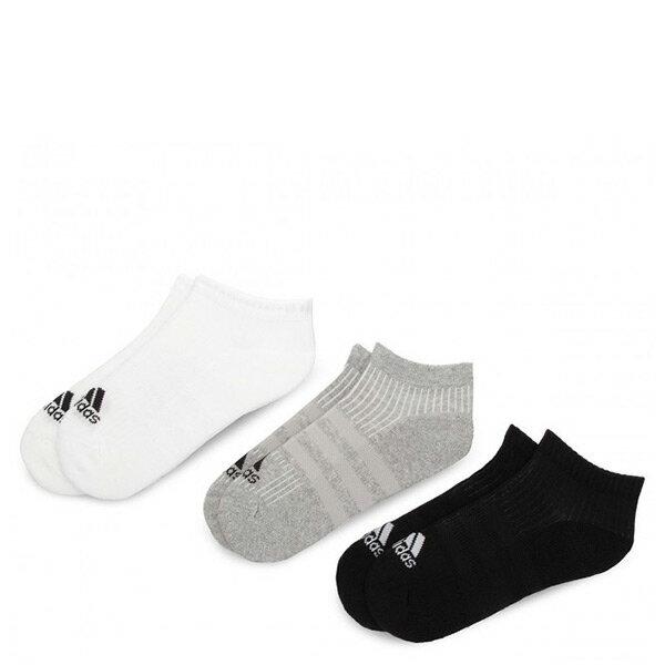 【ESTS】Adidas3-StripesSocksAA2281三雙一組踝襪男女襪黑白灰I0822