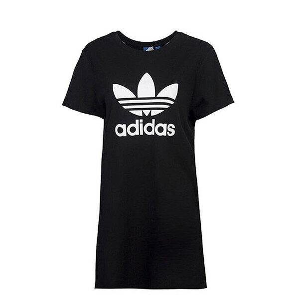 【EST S】Adidas Originals TRF AY8123 短袖 長版 洋裝 女款 黑白 H0822