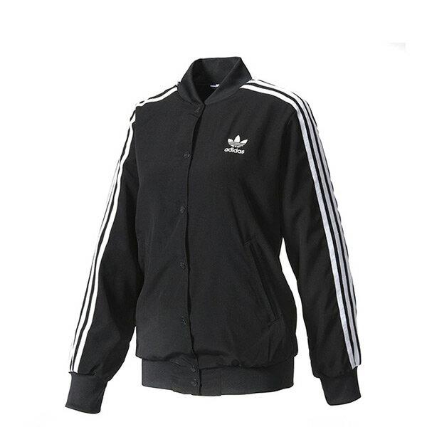 【EST S】Adidas Originals-3 Stripes BJ8184 棒球外套 女款 黑 H0412
