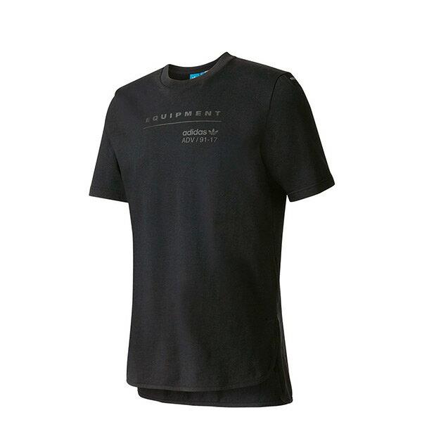 【EST S】Adidas Eqt Logo TeeBK7170 棉質 短袖上衣 黑 H0112