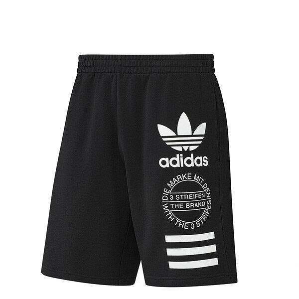 【EST S】Adidas originals Shorts LA BQ0927 徽章 棉質 短褲 黑 H0622