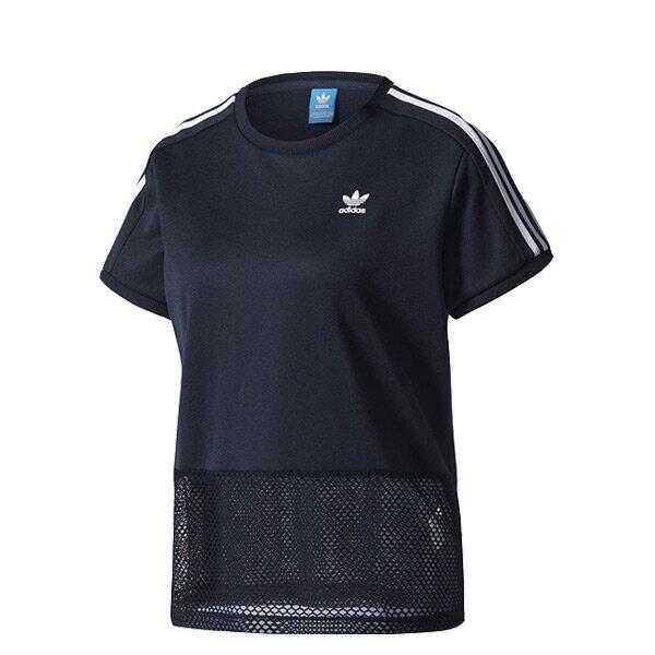 【EST S】Adidas Originals Osaka Tee BQ5743 下擺網洞 短袖 上衣 黑 H0622