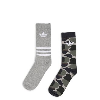 【EST S】Adidas Originals 2 Pack Socks BQ5964 兩件裝 迷彩 淺灰 長襪 H1023