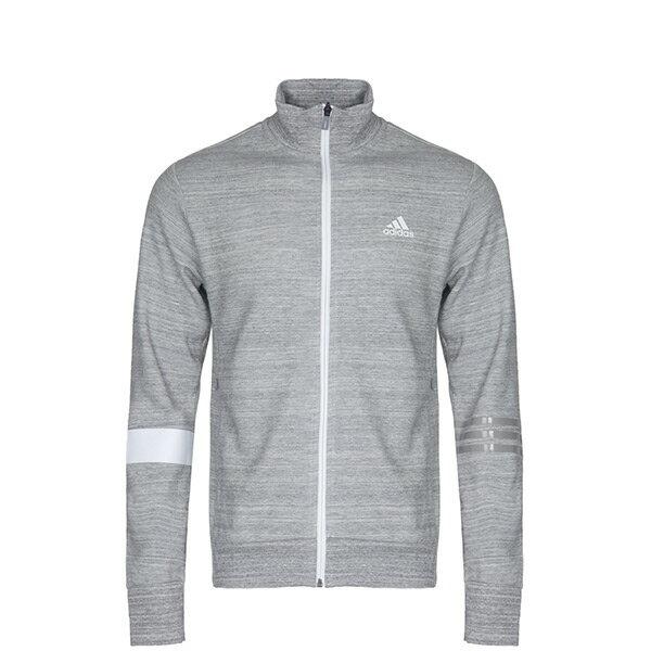 【EST S】Adidas SV TT Slogan BR0223 立領 針織 運動 外套 男款 灰 H0915