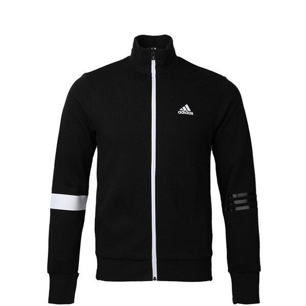 【EST S】Adidas SV TT Slogan BR0226 立領 針織 運動 外套 男款 黑 H0915